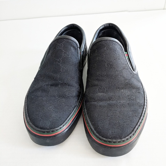 gucci dublin slip on black